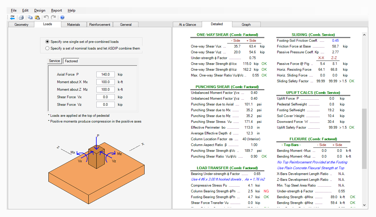 Spread Combined Strap Footing Design Software Asdip Foundation Program Addressing Shear Force And Bending Moment Diagrams Structural Engineering