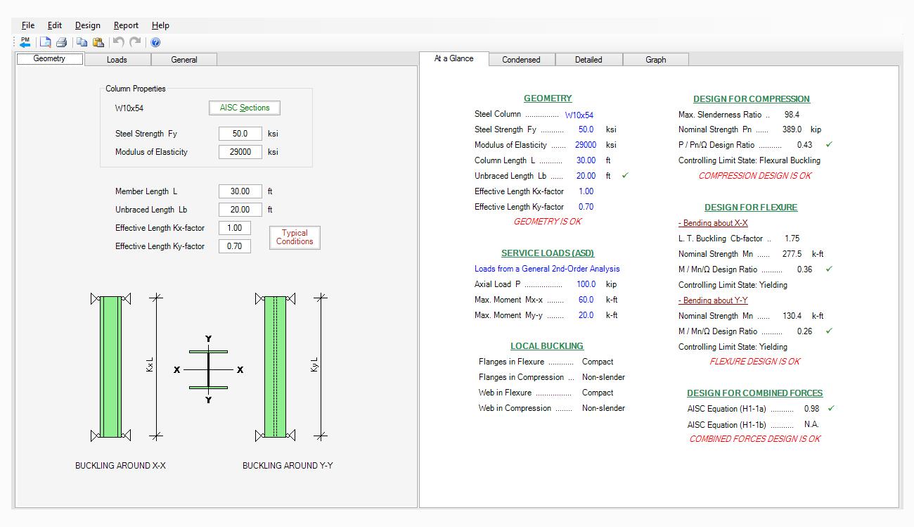 structural-engineering-software-steel-column-design