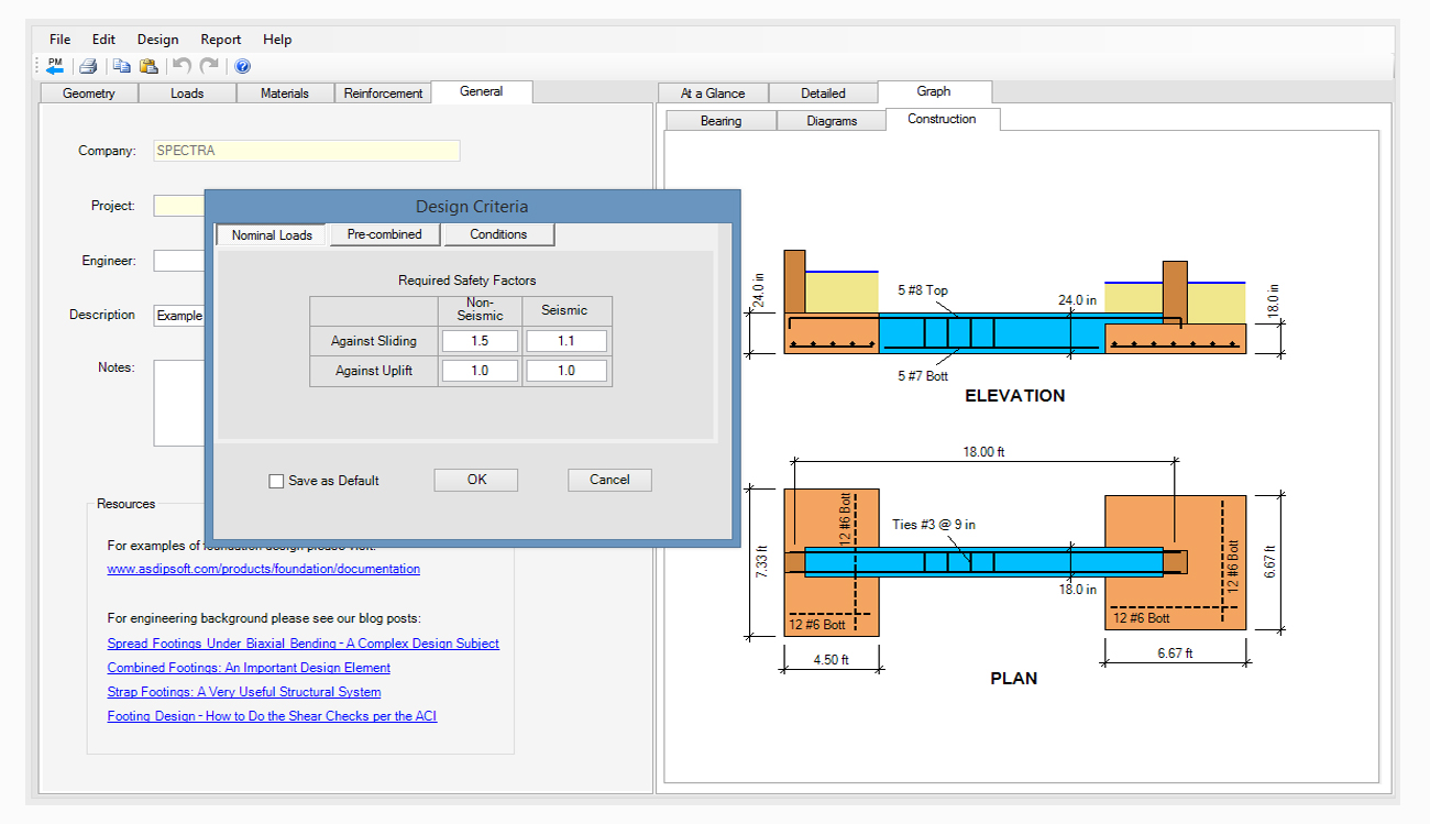 structural-engineering-software-strap-footing-design