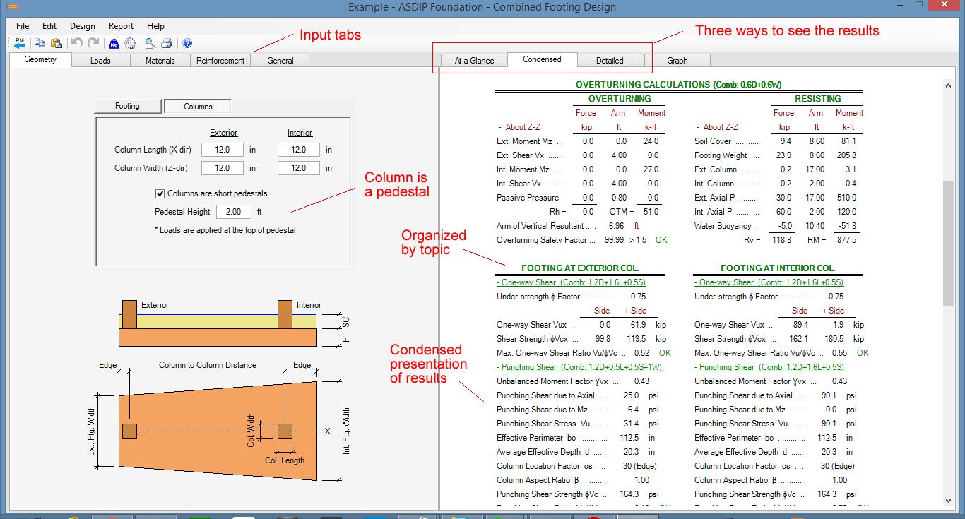 combined-footing-design-screenshot