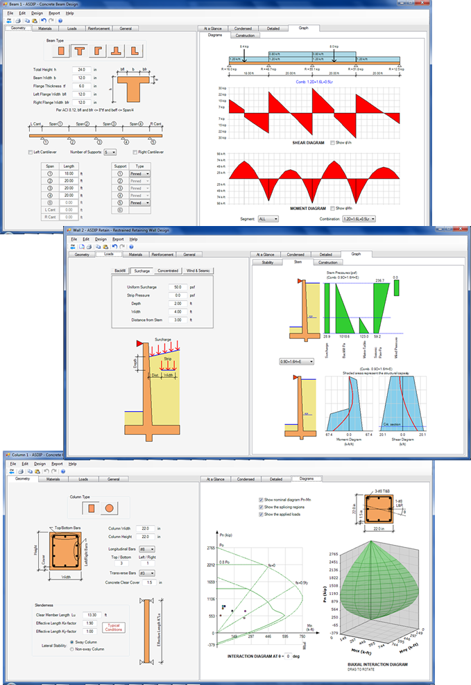 Asdip Concrete Structural Engineering Software
