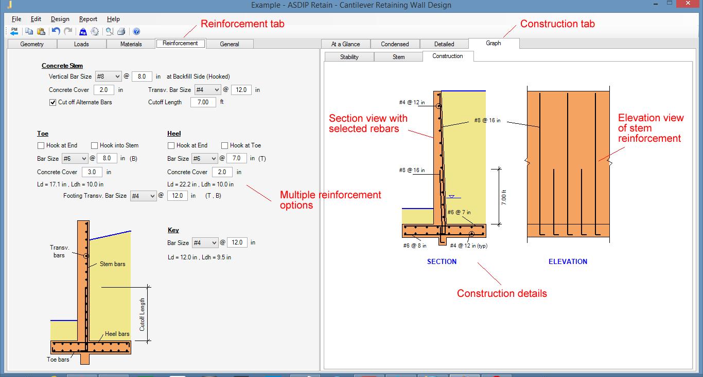 How To Design Cantilever Retaining Walls Using Asdip Retain