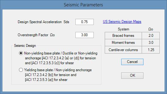 aci-seismic-parameters