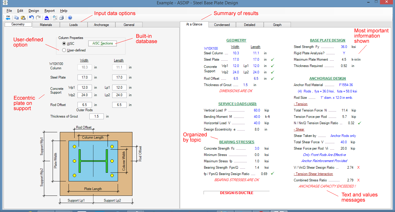 Steel Design Software - Beams, Columns, Base Plates, Lugs