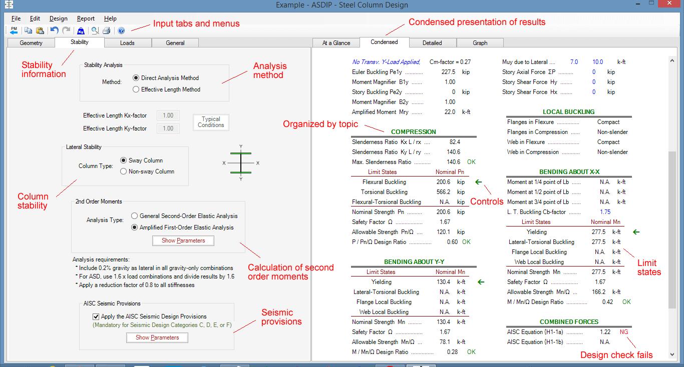 steel-column-condensed-results