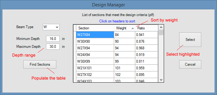 composite-beam-design-manager