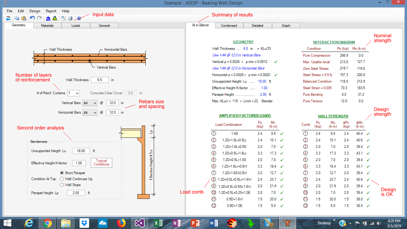 concrete-wall-summary-results