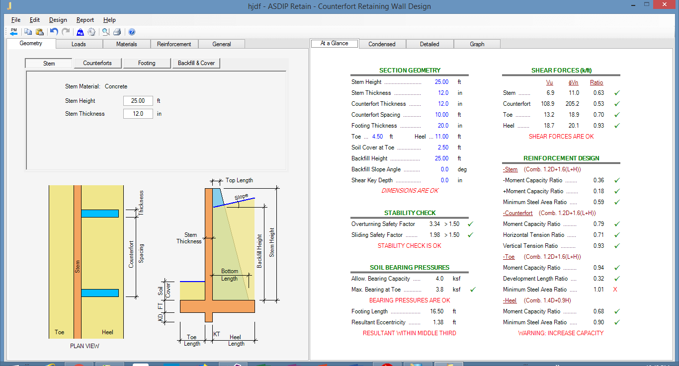 counterfort-retaining-wall-summary-of-results
