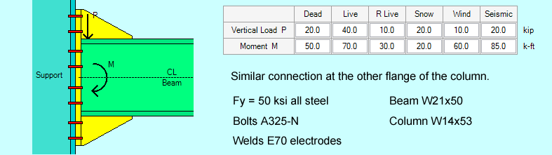 end-plate-moment-connection-example